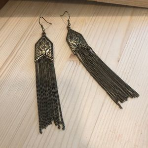 ModCloth Metal tassel Earrings